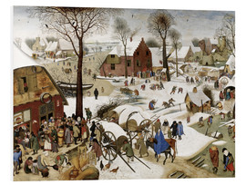 Foam board print  Census at Bethlehem - Pieter Brueghel d.Ä.