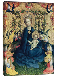 Canvas print  The Virgin of the Rose Bush - Stephan Lochner