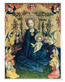 Premium poster  The Virgin of the Rose Bush - Stephan Lochner
