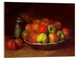 Acrylic print  Still Life with Apples and a Pomegranate - Gustave Courbet