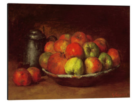 Aluminium print  Still Life with Apples and a Pomegranate - Gustave Courbet