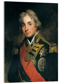 Acrylic print  Admiral Sir Horatio Nelson - George Peter Alexander Healy