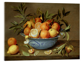 Acrylic print  Still Life with Oranges and Lemons - Jacob van Hulsdonck