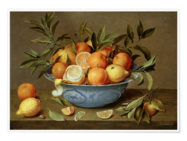 Premium poster  Still Life with Oranges and Lemons - Jacob van Hulsdonck