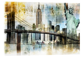 Acrylic print  New York Skyline I - Städtecollagen