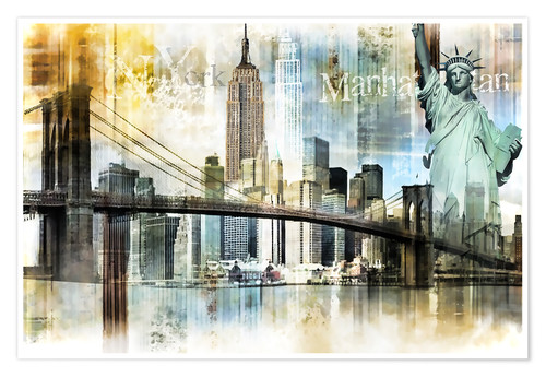 Poster Skyline New York Fraktal I