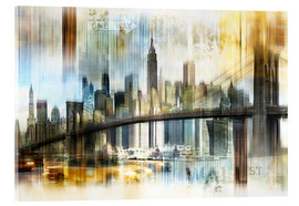 Acrylic print  Skyline New York Abstrakt Fraktal - Städtecollagen