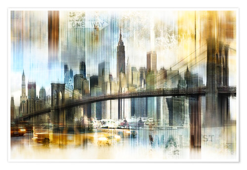 Premium poster Skyline New York Abstrakt Fraktal