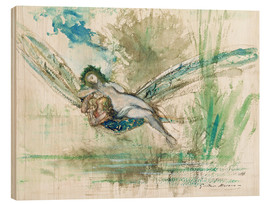 Wood print  Dragonfly - Gustave Moreau