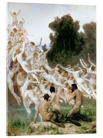 Acrylic print  The Oreads - William Adolphe Bouguereau