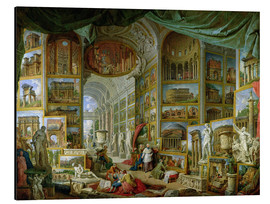 Aluminium print  Gallery of Views of Ancient Rome - Giovanni Paolo Pannini