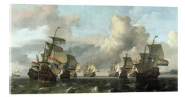 Acrylic print  The Dutch Fleet of the India Company - Ludolf Backhuysen
