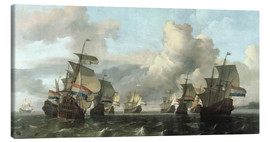 Canvas  The Dutch Fleet of the India Company - Ludolf Backhuysen