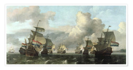 Premium poster The Dutch Fleet of the India Company