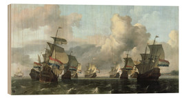 Wood print  The Dutch Fleet of the India Company - Ludolf Backhuysen