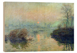 Claude Monet - Sun Setting over the Seine at Lavacourt. Winter Effect