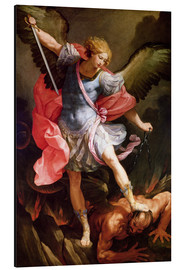 Aluminium print  The archangel Michael defeating Satan - Guido Reni