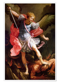 Poster  The Archangel Michael defeating Satan - Guido Reni