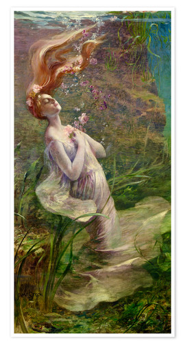 Premium poster The drowning Ophelia