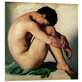 Foam board print  Study of a Nude Young Man - Hippolyte Flandrin