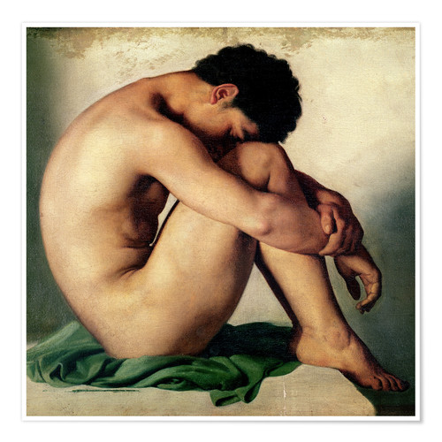 Premium poster Study of a Nude Young Man