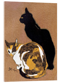 Acrylic print  Two Cats - Théophile-Alexandre Steinlen
