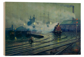 Wood print  Cardiff Docks - Lionel Walden