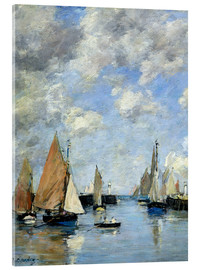 Acrylic print  The Jetty at High Tide - Eugène Boudin