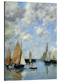 Aluminium print  The Jetty at High Tide - Eugène Boudin
