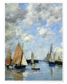Premium poster  The Jetty at High Tide - Eugène Boudin