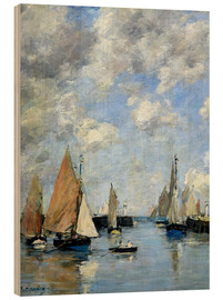 Wood print  The Jetty at High Tide - Eugène Boudin