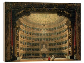 Wood print  La Scala - Italian School