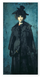 Premium poster  Madame Laura Leroux - Jean-Jacques Henner