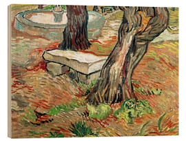 Wood print  The Bench at Saint-Remy - Vincent van Gogh