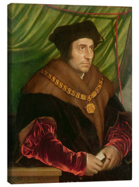 Canvas print  Portrait of Sir Thomas More - Hans Holbein d.J.