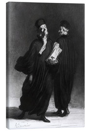 Canvas print  Two Lawyers - Honoré Daumier