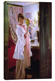 Canvas print  Interior with the Artist's Wife - Peder Severin Krøyer