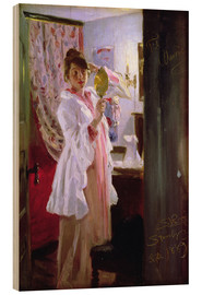 Wood  Interior with the Artist's Wife - Peder Severin Kroyer