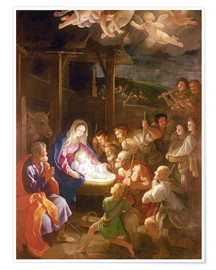 Premium poster The Nativity at Night