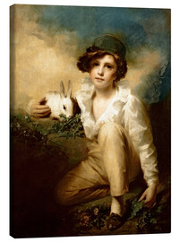 Canvas print  Boy and Rabbit - Henry Raeburn
