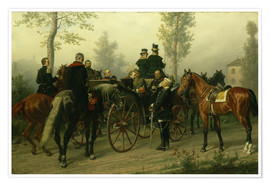 Premium poster Napoleon III and Bismarck after the Battle of Sedan
