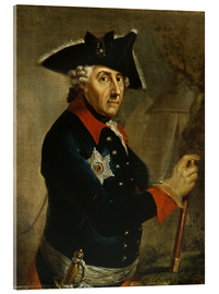 Acrylic print  Frederick the Great of Prussia - Anton Graff