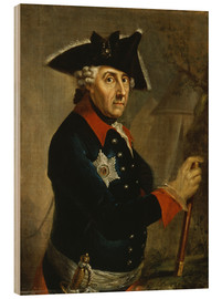 Wood print  Frederick the Great of Prussia - Anton Graff