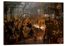 Acrylic glass  The Iron-Rolling Mill - Adolph von Menzel