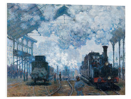Foam board print  The Station, St-Lazare - Claude Monet