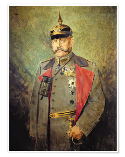 Premium poster General Paul von Hindenburg