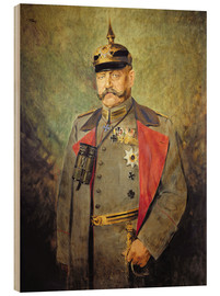 Wood print  General Paul von Hindenburg - Vienna Nedomansky Studio