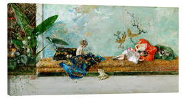 Canvas print  The Painter's Children in the Japanese Salon - Mariano Fortuny y Marsal