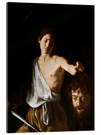 Acrylic glass  David with the Head of Goliath - Michelangelo Merisi (Caravaggio)