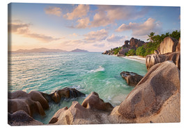 Canvas print  Welcome to La Digue - Michael Breitung